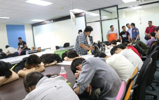 NOVEMBER 23, 2018 National Capital Region Office arrested 87 Chinese nationals who were employed in an illegally operating gambling hub inside the Ortigas business district in Pasig City on Thursday. PHOTO FROM NCRPO