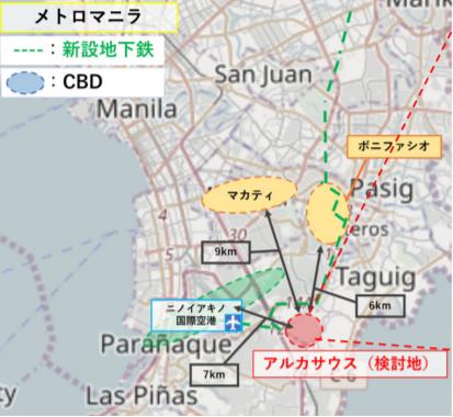 Arca south map