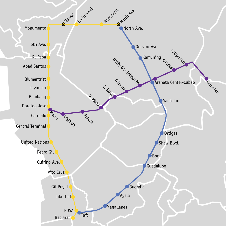 Manila_LRT-MRT_map